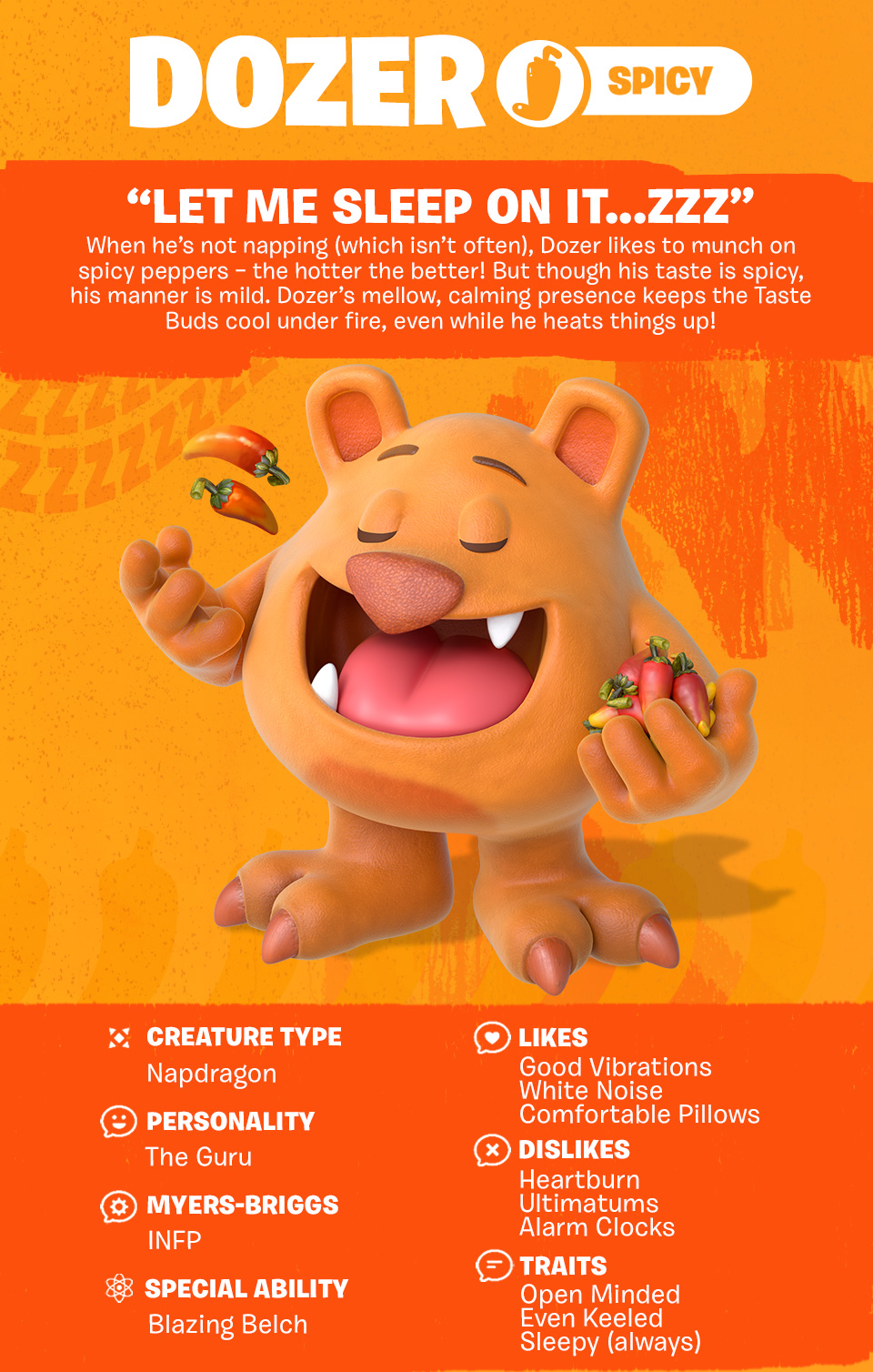 Tastebuds - Dozer - Character