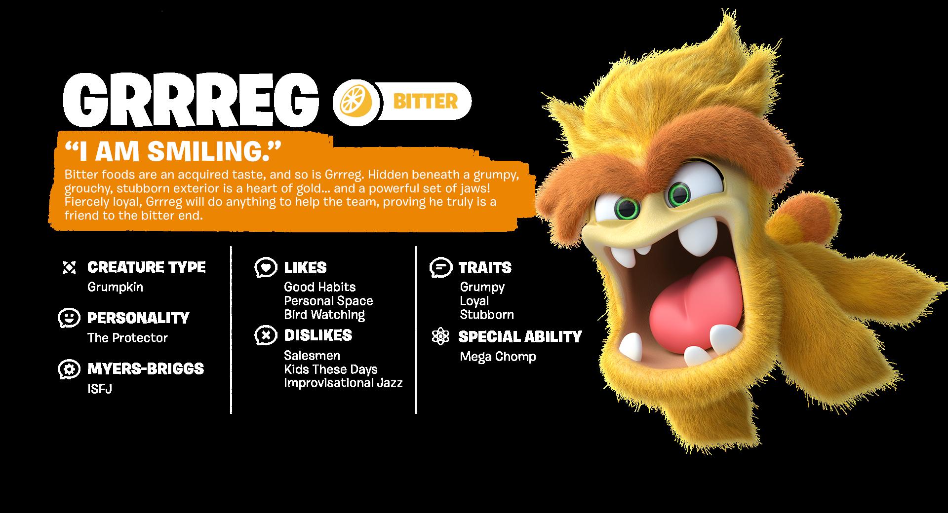 Tastebuds - Grrreg - Character
